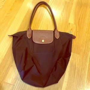 Small brown longchamp bag